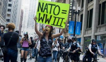 NATO and US vs Protestors