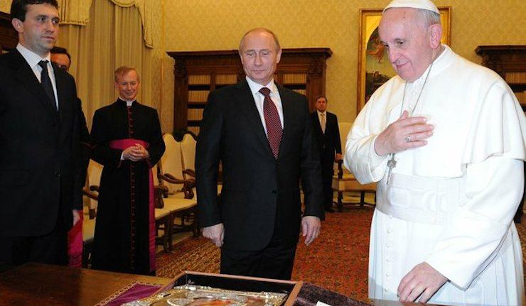 Two forces for peace: President Putin and Pope Francis meet in the Vatican
