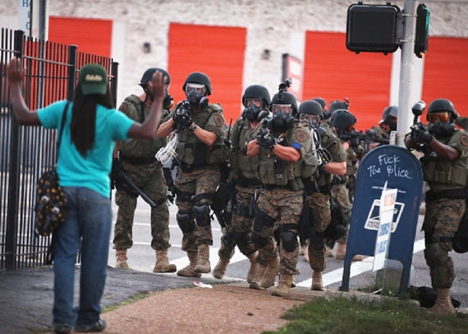 Hands Up Militarized Police